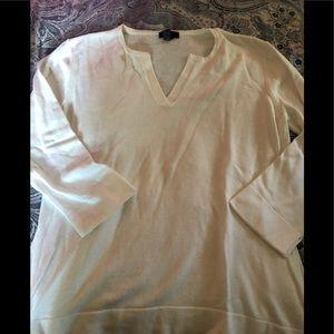 3/4 sleeve sweater t-shirt